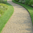Stock Photo: English garden gravel path