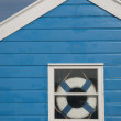 Beach hut window — Stock Photo