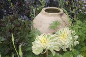 Garden design ceramic vase — Stock Photo