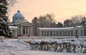 Winter in Arkhangelskoye estate — Stock Photo