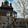 Old castle and lantern — Stok Fotoğraf #13882358