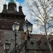 Old castle and lantern — Stockfoto #13882358