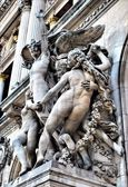The sculptures on the facade of the Grand Opera — Stock Photo