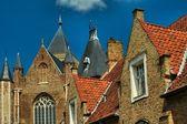 черепичные крыши города брюгге — Стоковое фото