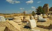 The ruins of ancient Caesarea — Stock Photo