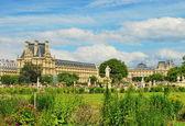 Parken framför Louvren — Stockfoto