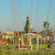 Ulyanovsk. Fountain in the park — Stockfoto