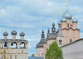 Pink church in Rostov Kremlin — Stock Photo