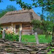 Ukrainian hut — Stockfoto