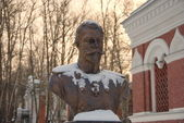 Sculptural bust of the Russian Emperor Nicholas II — Stock Photo
