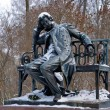 Постер, плакат: The monument to the great Russian poet Pushkin