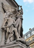 The sculpture of the winged goddess of Victory — Stock Photo