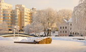 Winter Day in Minsk — Stock Photo
