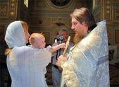 Orthodox baptism — Stock Photo