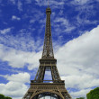 Dark blue sky in Paris — Stock Photo