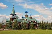 Iglesia de la epifanía en la aldea de borodino — Foto de Stock