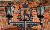 Lantern with the coat of arms — Stock Photo