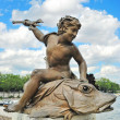 Sculpture that adorns the bridge in Paris — Stock Photo