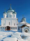 Winter in the monastery — Stock Photo