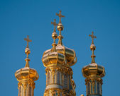 Golden domes of Tsarskoye Selo — Foto de Stock