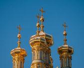 Golden domes of Tsarskoye Selo — Stockfoto