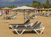 Beach resort on the Mediterranean — Stock Photo