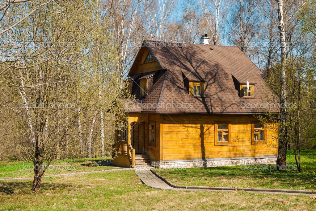 Картинки лес весной с домом