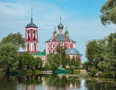 Russian landscape with church — Stock Photo