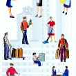 Workers of hotel - Stock Vector