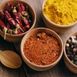 Four kinds of seasonings - Stok fotoğraf