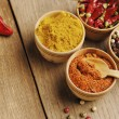 Four kinds of seasonings — Stok Fotoğraf #13917055