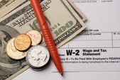 Form W-2 Wage and Tax Statement — Stock Photo