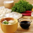 Won-ton soup asia food — Stock Photo