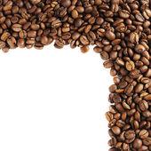 Kahve çekirdekleri ile yapılan çerçeve — Stok fotoğraf