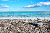 Beautiful view on the beach — Stock Photo