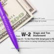 Form W-2 Wage and Tax Statement — Foto de Stock