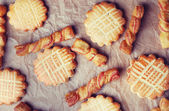 Group of sweet tasty cookies — Stock Photo