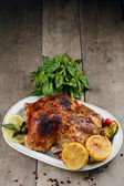 Baked tasty hot chicken — Stock Photo