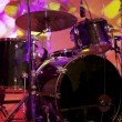 Drums on stage - Stock Photo