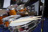 Sticks on Drums — Stock Photo