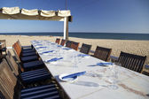 Restaurant at the beach — Stock Photo