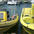 Boats in harbour in Portugal. Point of cameris from Pier. — ストック写真 #15337797