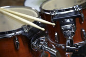 Drumset with Sticks — 图库照片