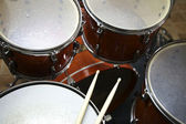 Drumset with Sticks — Stockfoto
