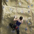 Stock Photo: Climber on Wall