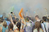 Holi Festival with many people — Stock Photo