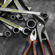 Pliers and wrench tools — Stock Photo