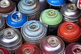 Aerosols in different colors — Stock Photo