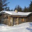 Cottage in lapland — Stock Photo