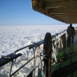 Stock Photo: View from icebreaker deck
